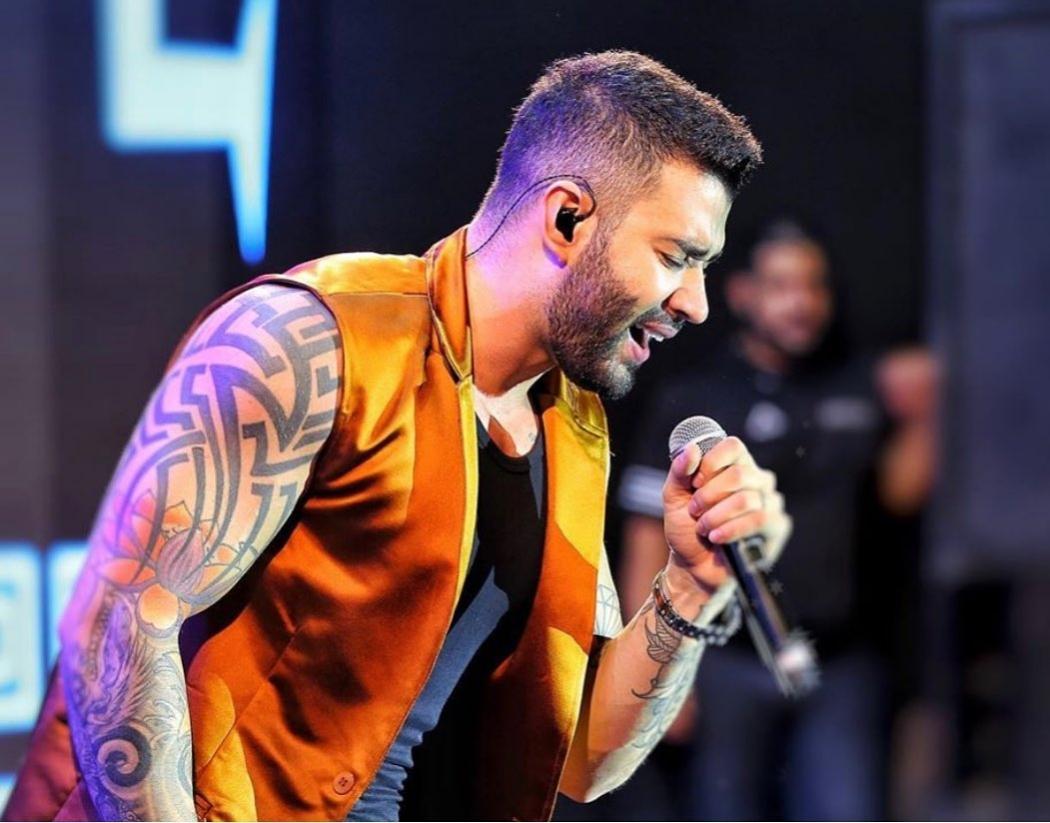 """O cantor Gusttavo Lima apresenta seu """"Buteco"""" no Pavilhão de Carapina. Crédito: Reprodução/Instagram @gusttavolima"""
