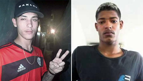 Patrick da Silva de Paula, o Patrick Capetinha, de 19 anos, e Vinicius Pereira Ferreira, o Menor Escobar, de 21. Os dois estão foragidos. Crédito: Divulgação | Polícia Civil