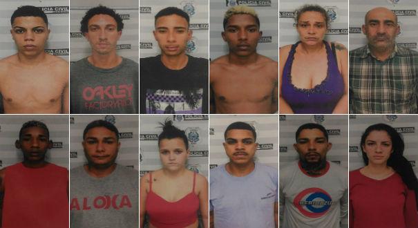 13 são detidos durante operação em Cariacica. Crédito: Divulgação | Polícia Civil