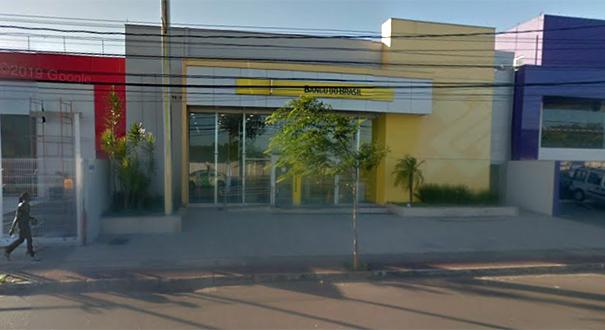 Agência do Banco do Brasil na Avenida Fernando Ferrari, em Vitória, que foi arrombada nesta segunda-feira (8). Crédito: Google Street View