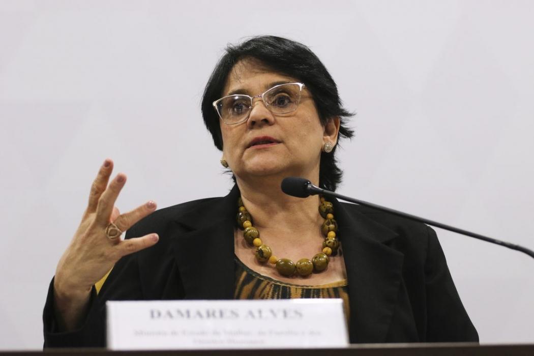 Damares Alves, Ministra da Mulher, Família e Direitos Humanos. Crédito: Valter Campanato/Agência Brasil