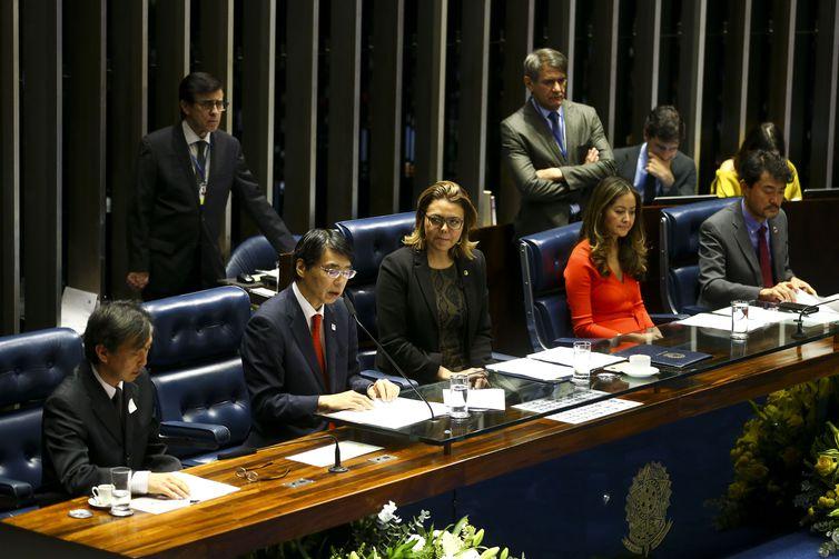 O Senado Federal realiza sessão especial em comemoração aos 111 anos da imigração japonesa no Brasil. . Crédito: Marcelo Camargo/Agência Brasil