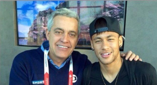 Mauro Naves e o jogador Neymar. Crédito: Reprodução | Instagram
