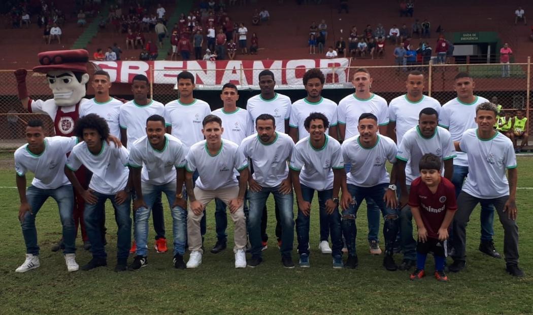 A apresentação do elenco da Desportiva para a Copa Espírito Santo 2019. Crédito: Richard Pinheiro/Globoesporte.com