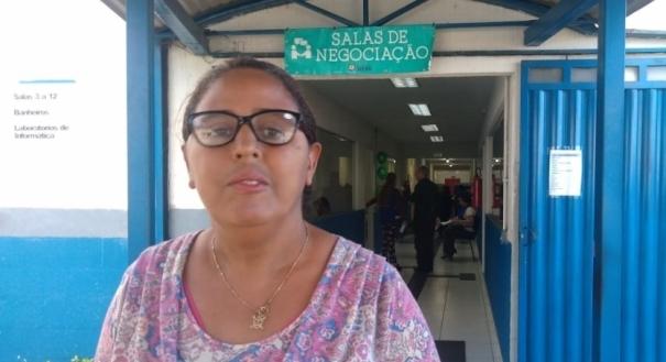A doméstica Genimar Rosa foi no mutirão negociar empréstimo. Crédito: Caíque Verli