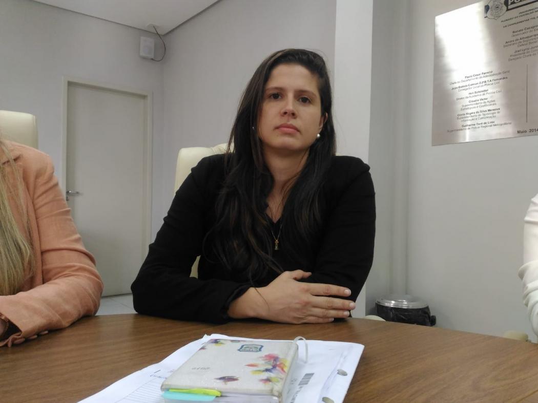 Delegada Fernanda Diniz, titular da Delegacia Especializada de Atendimento à Mulher (Deam). Crédito: Elis Carvalho
