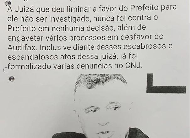 Reprodução de publicação no Facebook com ataque à juíza Telmelita Guimarães. O conteúdo é alvo de investigação da Polícia Civil. Crédito: Reprodução