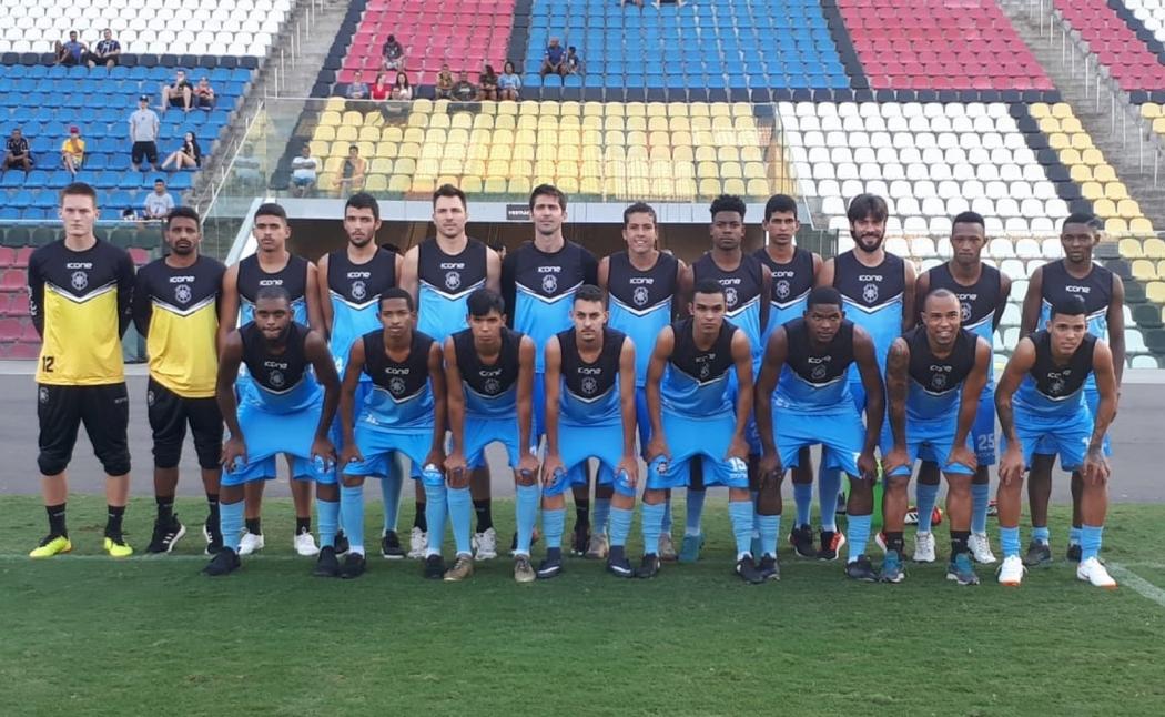 Parte do elenco do Rio Branco para a Copa Espírito Santo 2019. Crédito: Richard Pinheiro/GloboEsporte.com