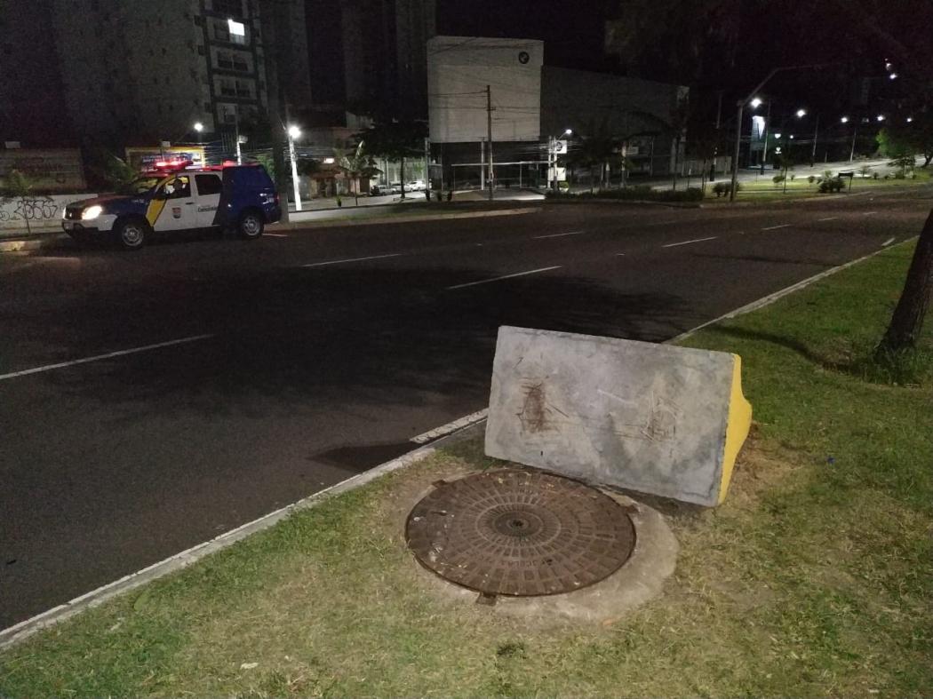 Furto de tampa de bueiros em Jardim da Penha. Crédito: Divulgação/ Prefeitura de Vitória