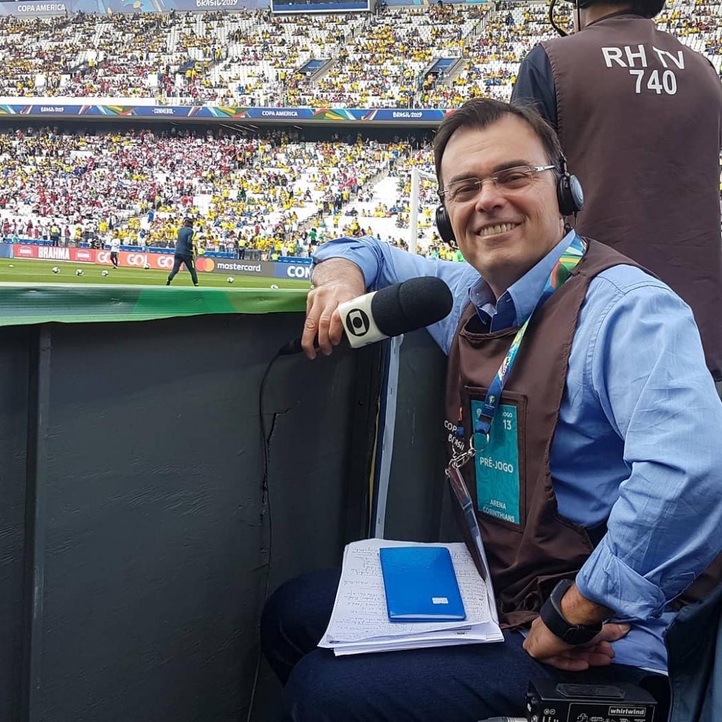 O repórter esportivo Tino Marcos. Crédito: Reprodução/Instagram @tinomarcos