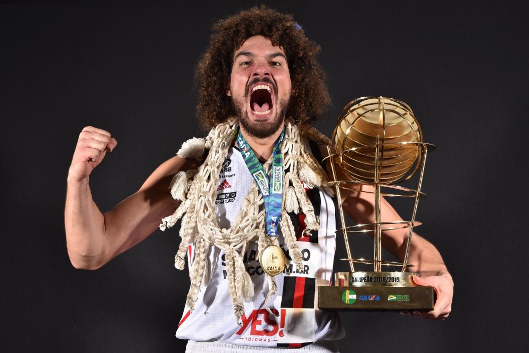 Anderson Varejão, jogador capixaba do basquete do Flamengo. Crédito: Flamengo/Divulgação