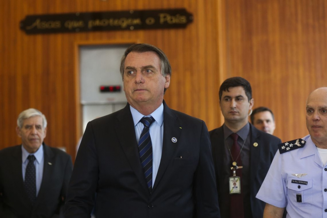 O presidente Jair Bolsonaro (PSL) no Palácio do Planalto. Crédito: Antonio Cruz/Agência Brasil