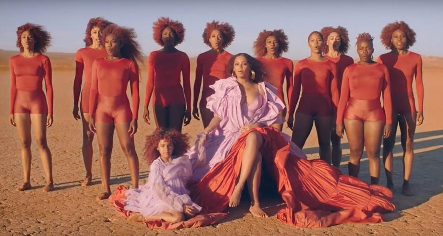 Beyoncé no clipe de Spirit. Crédito: Reprodução/Youtube