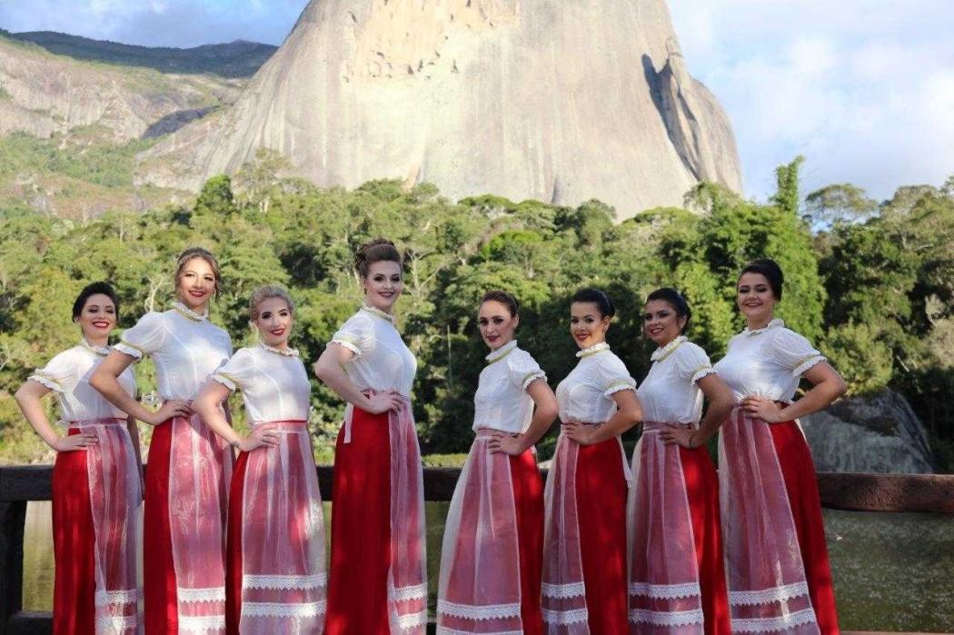 23/07/2019 - Candidatas a Rainha da Festa do Morango de Pedra Azul. Crédito: Afemor/Divulgação