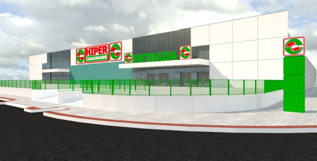Hipermercado vai ficar em Barcelona, na Serra. Crédito: Reprodução - Casagrande
