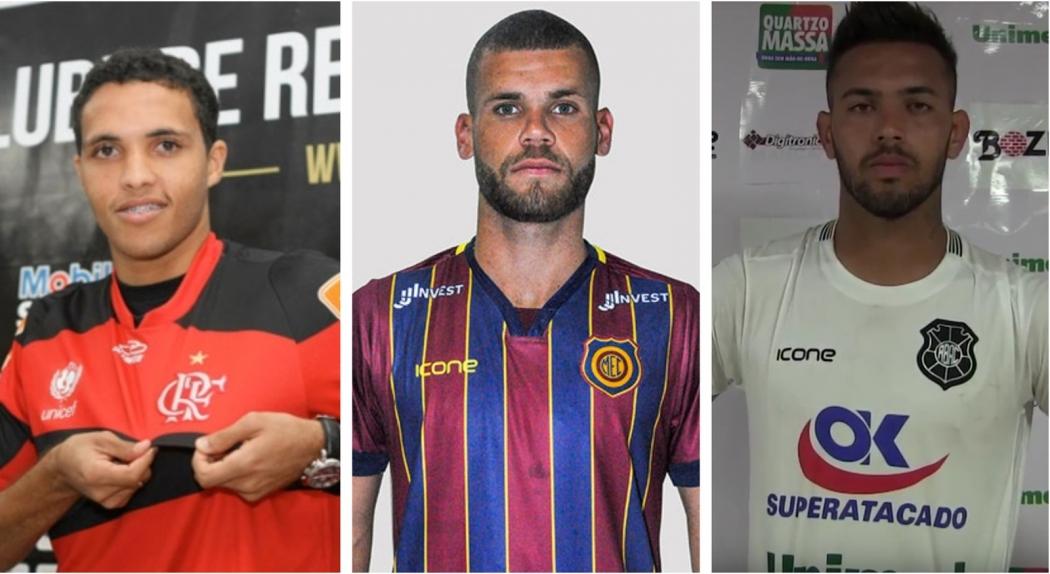 Zagueiros Thiago Medeiros e Marcelo e meia Anderson são reforços do Rio Branco. Crédito: Montagem/Globo Esporte