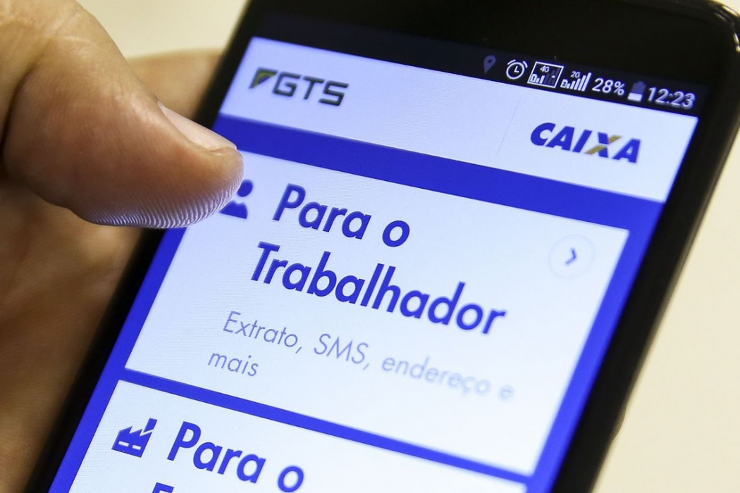 Aplicativo Caixa Econômica Federal- FGTS. Crédito: Marcelo Camargo/Agência Brasil
