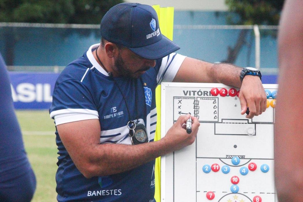 Wesley Martinelli, técnico do Vitória. Crédito: Alberto Gonçalves/Vitória