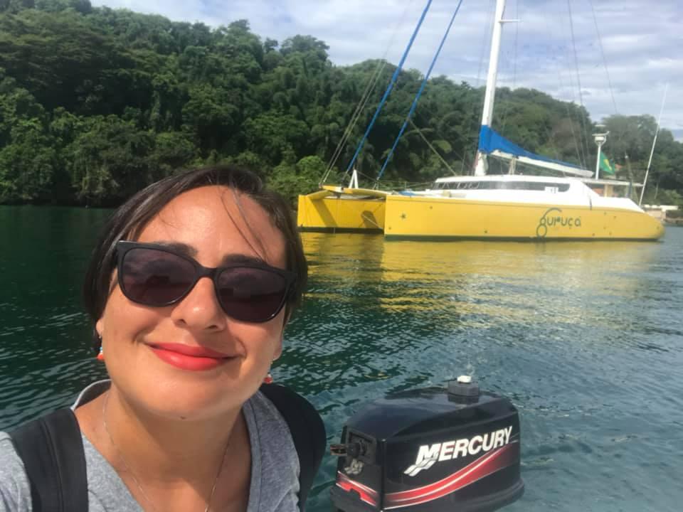 Velejadora foi atacada por piratas no litoral sul da Bahia. Crédito: Reprodução   Redes sociais