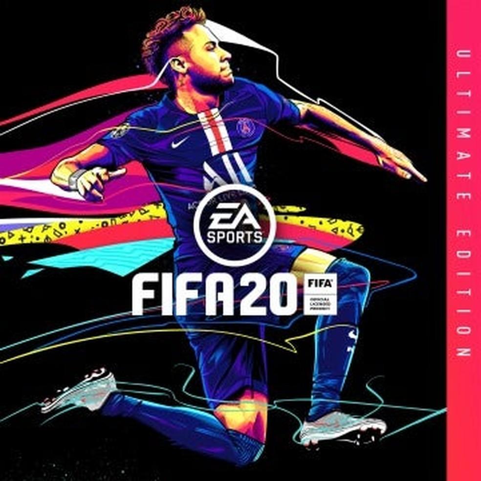 Em junho, chegou a vazar uma foto da suposta capa do Fifa 20 com Neymar. Crédito: Reprodução/Instagram