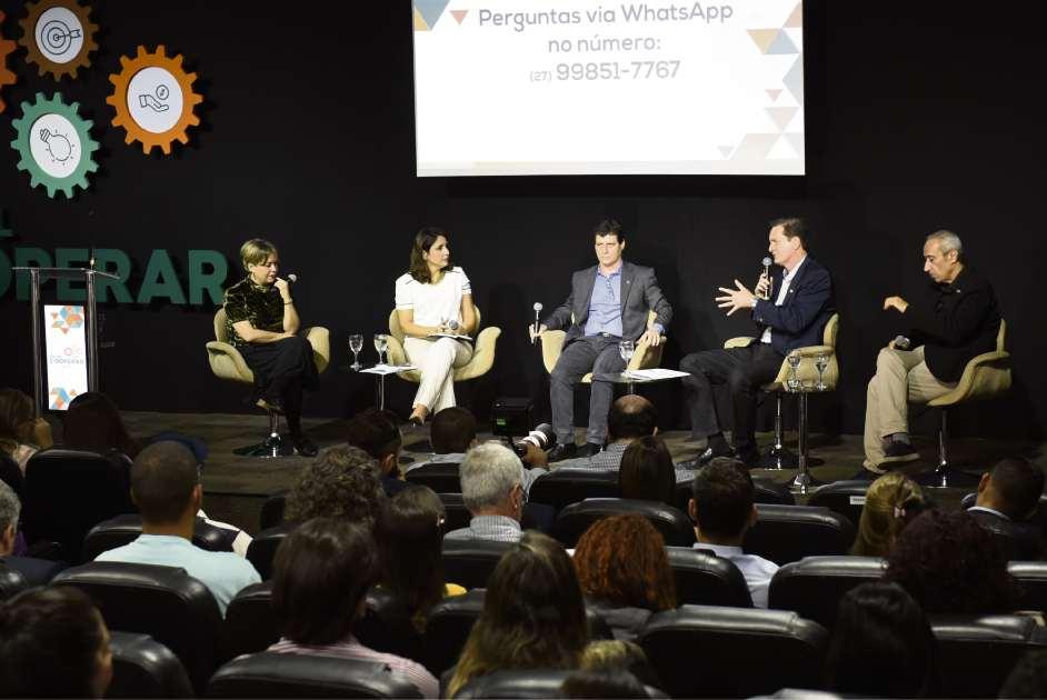 Painel Cooperar discutiu empreendedorismo cooperativo, no auditório da Rede Gazeta, em Vitória. Crédito: Vitor Jubini