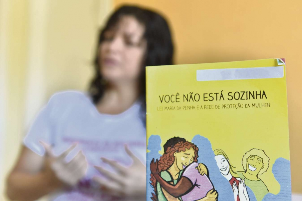 Vilmara faz parte do Projeto Mulheres de Cariacica, que ajuda vítimas de violência doméstica . Crédito: Fernando Madeira