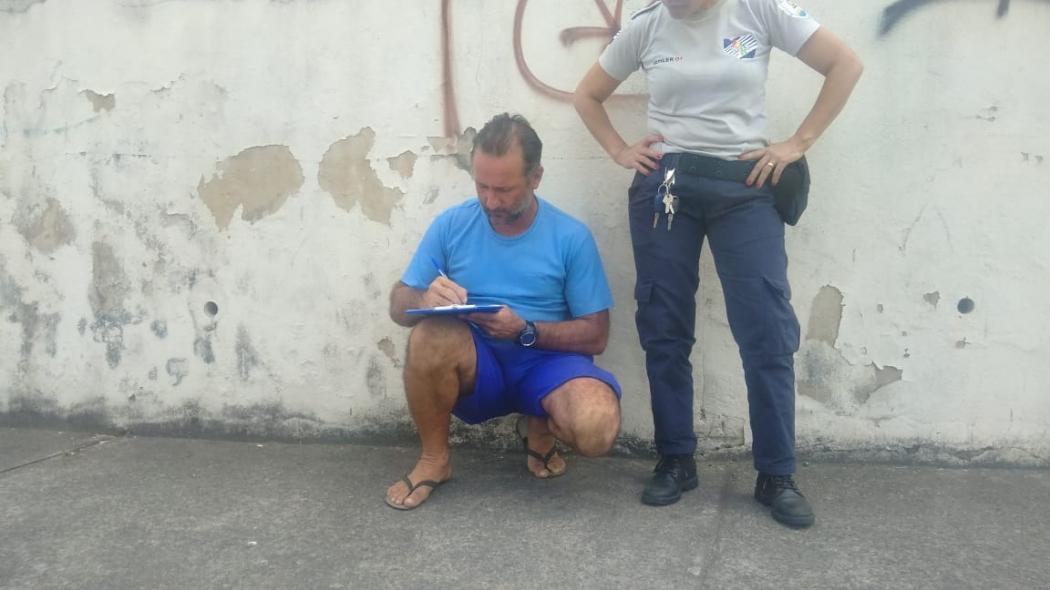 Luiz César Puziol, caminhoneiro envolvido no acidente com o ciclista. Crédito: Caíque Verli