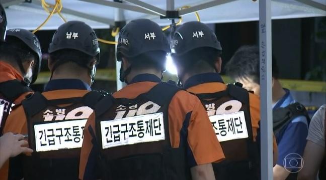 Acidente em boate na Coreia do Sul deixa 2 mortos e 16 feridos. Crédito: Reprodução / TV Globo