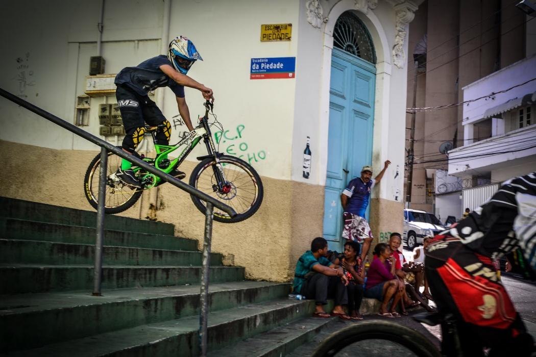 Descidas das escadarias da Piedade, em Vitória. Crédito: Fernando Madeira