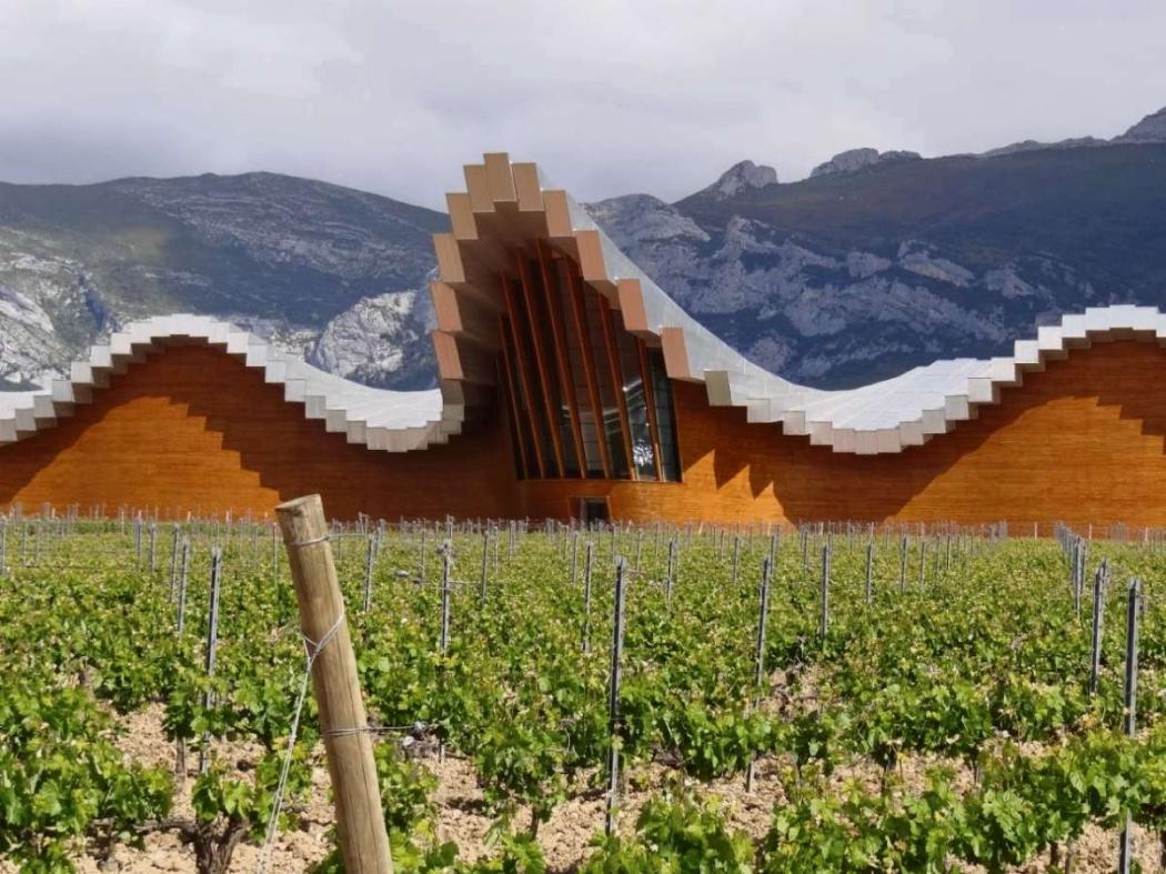 Bodegas Ysios (Rioja, Espanha). Arquitetura: Santiago Calatrava. Crédito: Divulgação