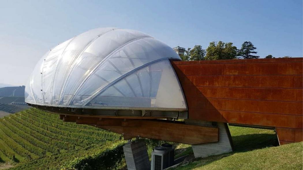 Azienda Ceretto (Piemonte, Itália).  Arquitetura: Luca e Marina Deabate. Crédito: Divulgação