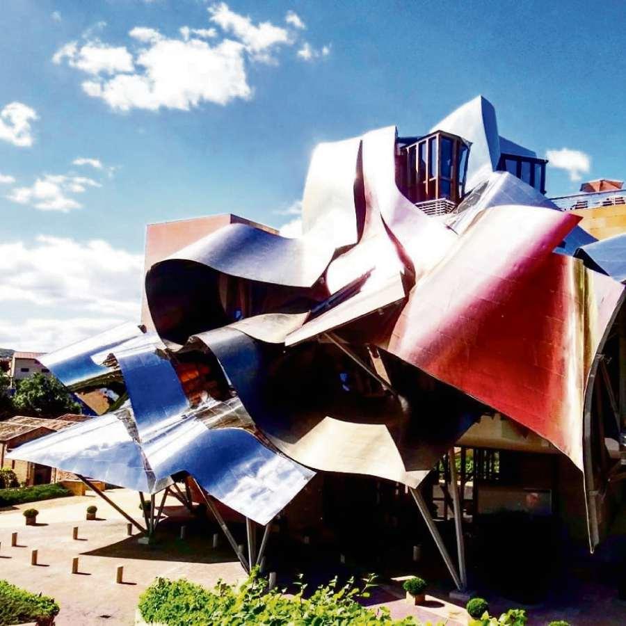 Marqués de Riscal (Rioja, Espanha). Arquitetura: Frank Gehry. Crédito: Divulgação