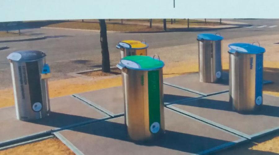 Contentores de lixo com capacidade para três mil litros de lixo serão instalados em bairros de Vila Velha. Crédito: Divulgação/PMVV
