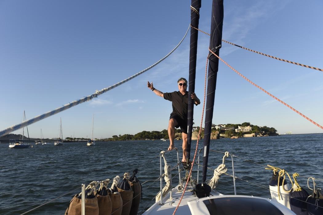 Capixaba veleja há 20 anos, mas afirma que todo dia é um novo aprendizado . Crédito: Vitor Jubini | GZ