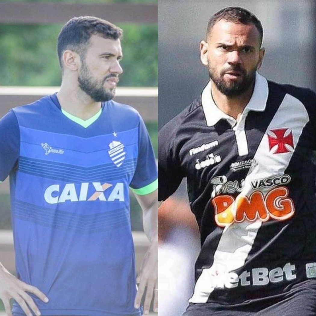 Vasco x CSA, no Kleber Andrade, terá o reencontro dos irmãos Luciano Castán e Leandro Castán. Crédito: CSA/Divulgação e Rafael Ribeiro/Vasco