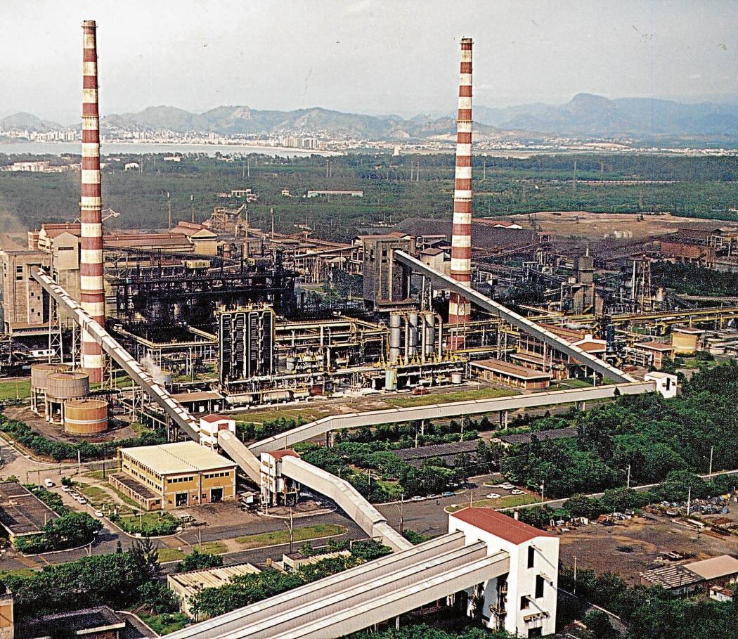 Área de coqueria da ArcelorMittal, onde é realizada a maior parte das obras  . Crédito: Divulgação