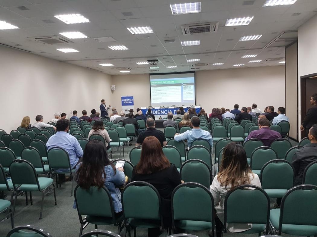 Audiência pública sobre a concessão da BR 262 realizada pela ANTT, em Vitória . Crédito: José Carlos Schaeffer