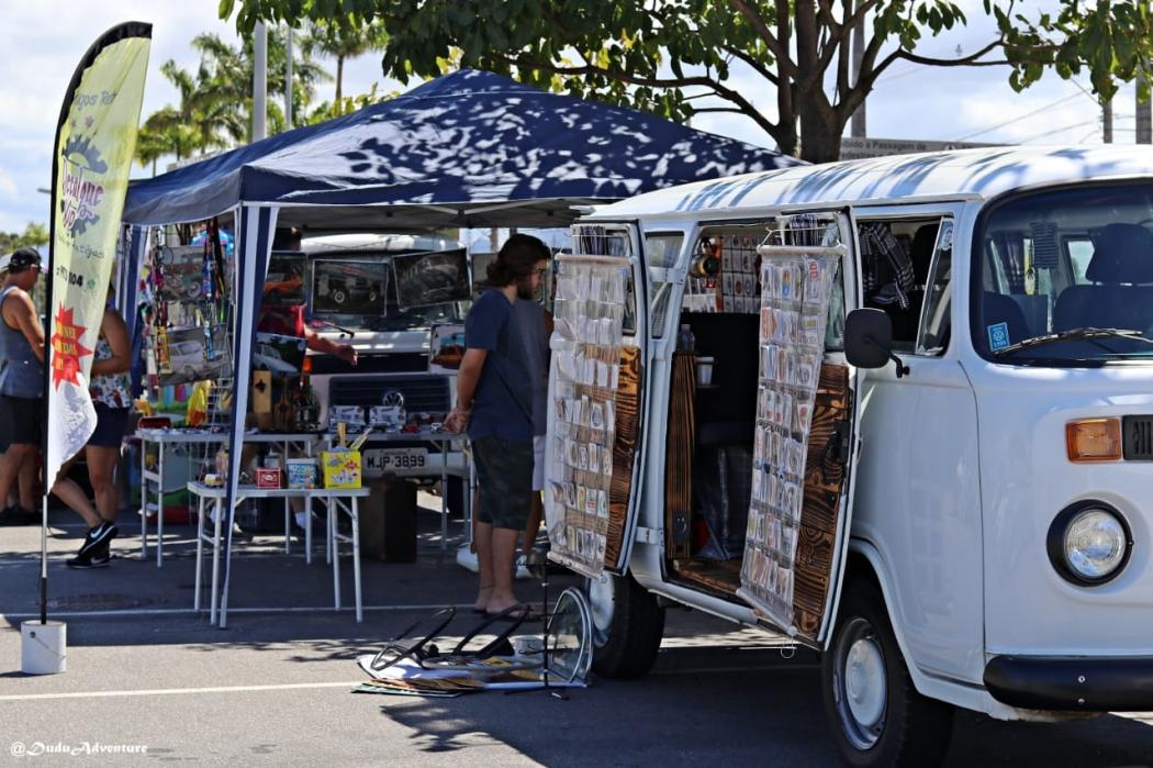 Mercado de Pulgas do Encontro Anual de Fuscas e Derivados, realizado no Espírito Santo. Em 2019, ele acontece no Boulevard Vila Velha. Crédito: Conrado Alvin