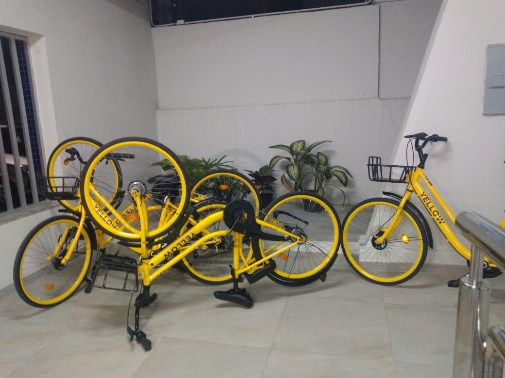 Bicicletas recuperadas em Vitória . Crédito: Esthefany Mesquita