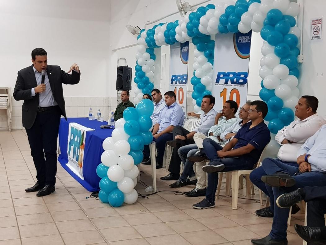 Erick Musso em evento do PRB na Serra. Crédito: Letícia Gonçalves