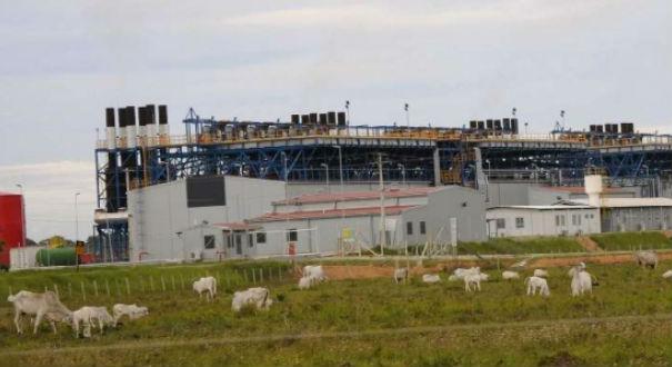 Termelétrica no distrito de Povoação, em Linhares, é movida a gás natural. Crédito: Arquivo