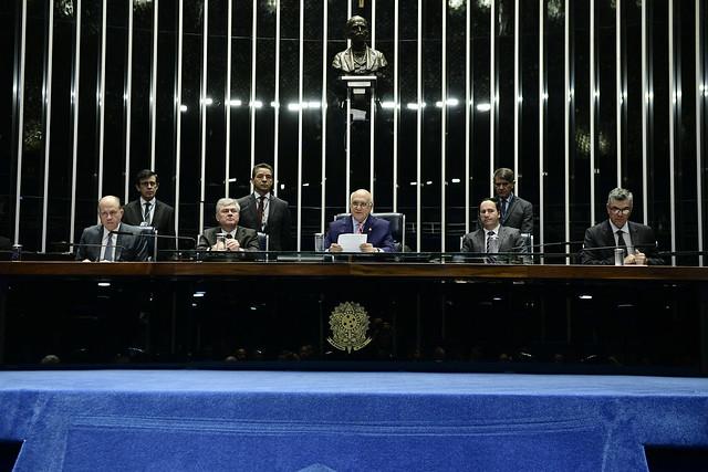 Sessão especial do Senado comemora os 40 anos da ANJ. Crédito: Pedro França