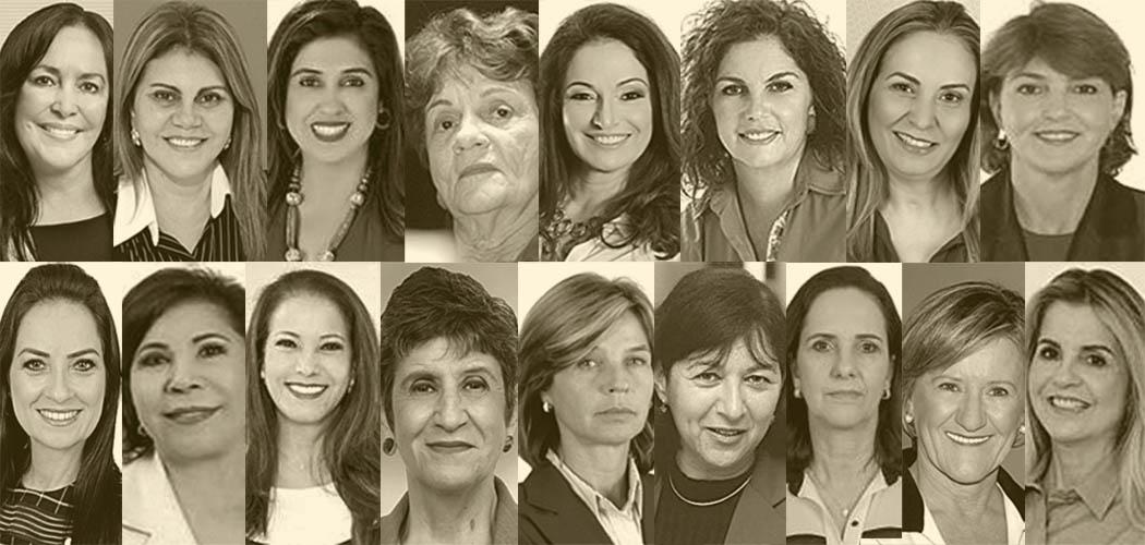 As mulheres do plenário. Juntas, todas elas somam 35 mandatos - apenas no período entre 1998 e 2000 - na Assembleia, Câmara e Senado. Crédito: Divulgação TSE e arquivos pessoais