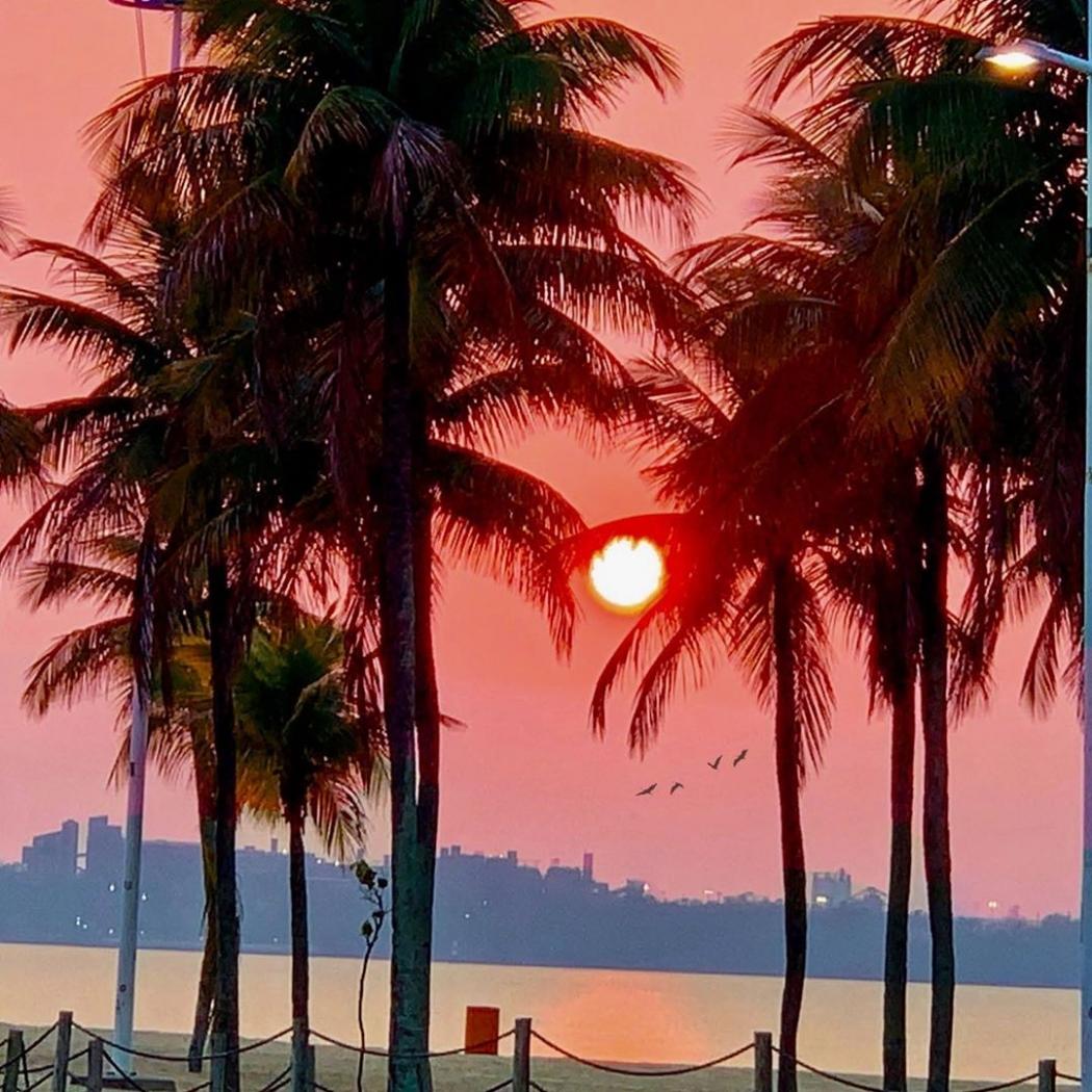 Dia amanheceu com o sol encoberto na Grande Vitória. Crédito: Vanda Lopes