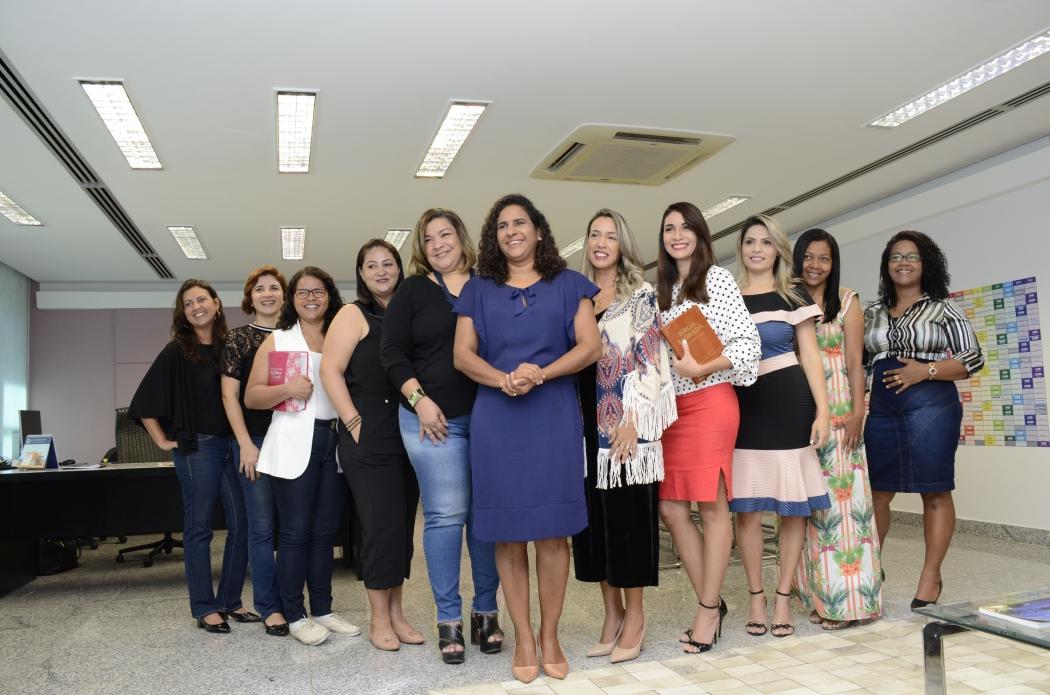 Reunião do Grupos de Pastoras com a vice-governador Jaqueline Moraes para debate no meio evangélico sobre o combate à violência contra as mulheres. Crédito: Felipe Ventura