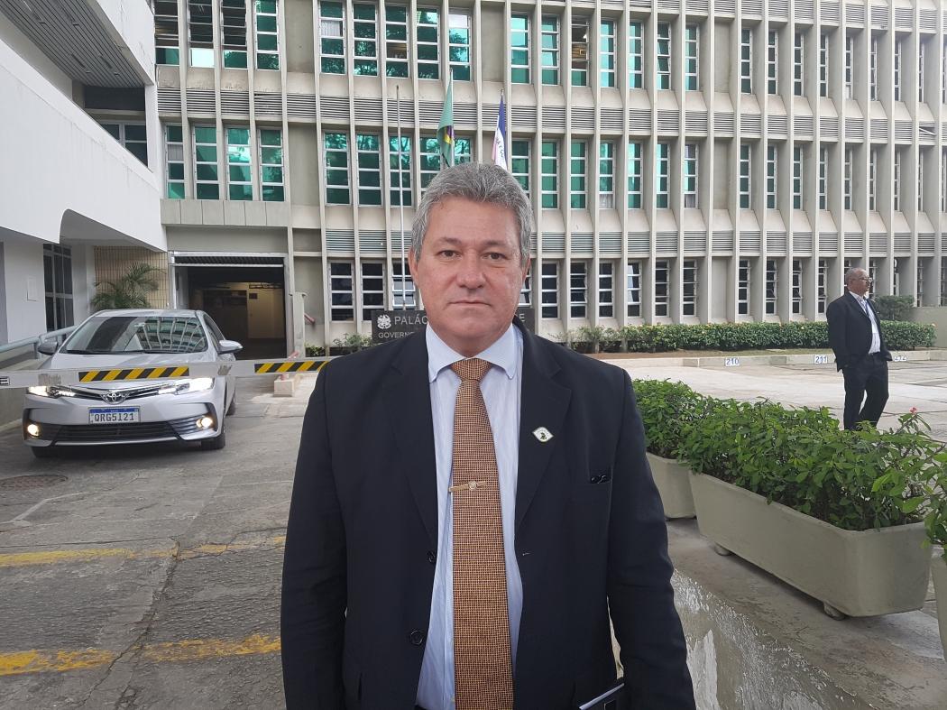 Secretário de Justiça, Luiz Carlos Cruz, participou da reunião com o vice-presidente . Crédito: José Carlos Schaeffer