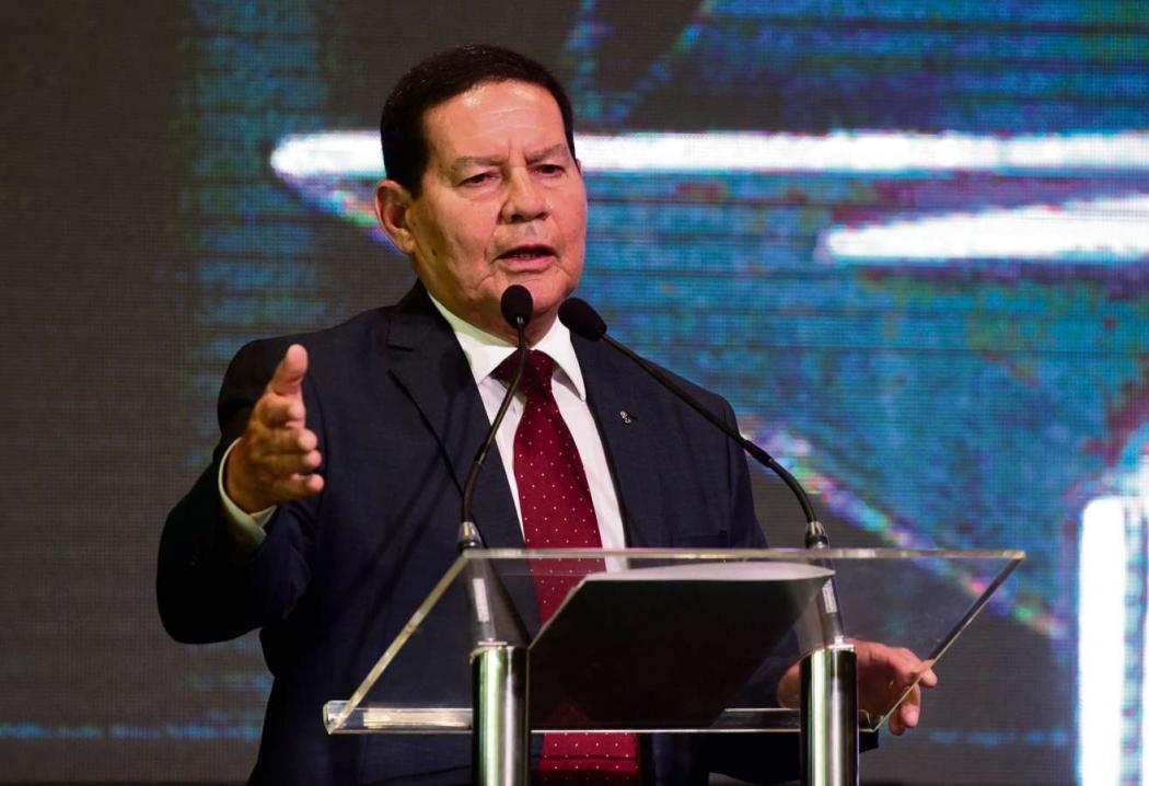 Mourão discurso em evento em Vitória. Crédito: Ricardo Medeiros