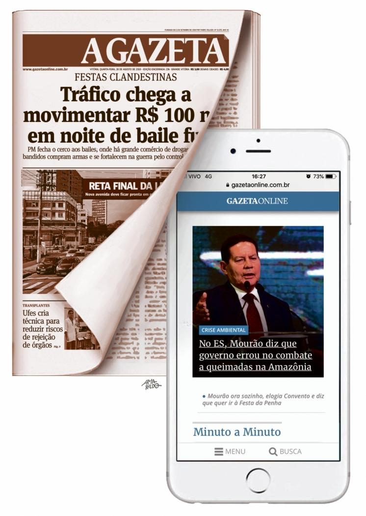 Gazeta Transforma: flip do jornal apenas no fim de semana. Crédito: Ilustração - Amarildo