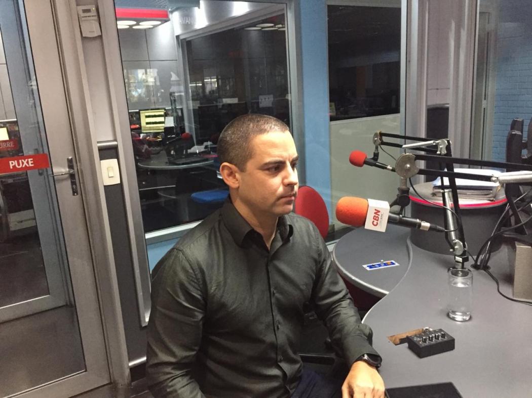Diretor-presidente da Companhia Docas do Espírito Santo (Codesa), Julio Castiglioni em entrevista na Rádio CBN Vitória. . Crédito: Matheus Zardini