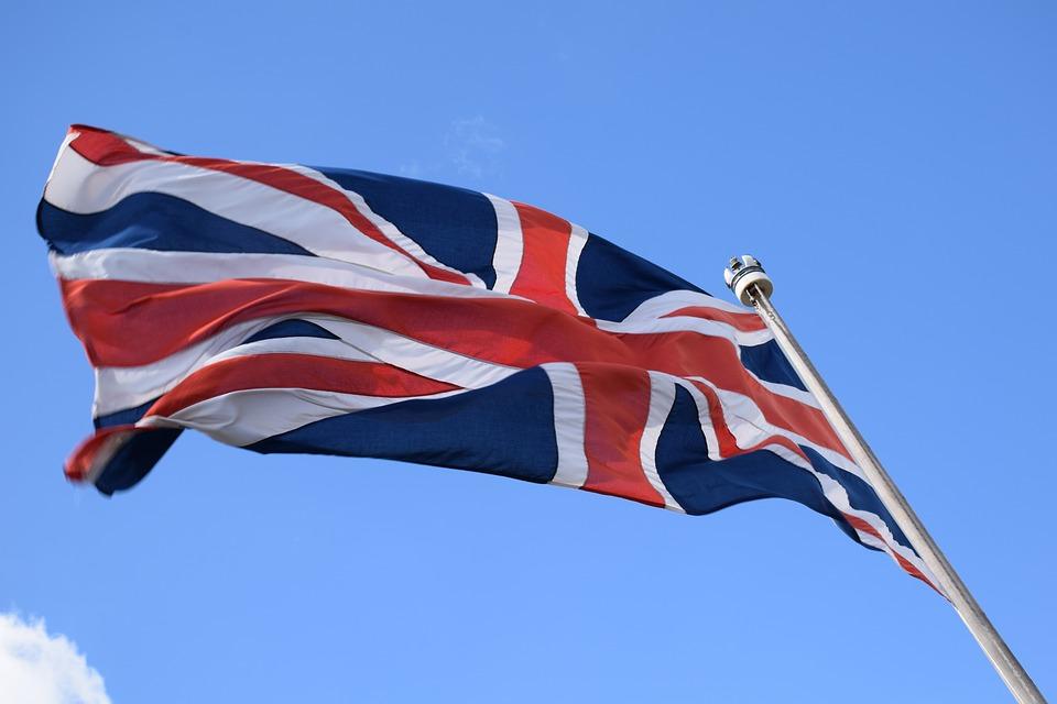 Bandeira do Reino Unido. Crédito: Pixabay